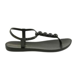 Musta Ipanema-sandaalit naisten kengät flip-flops palloilla 82517