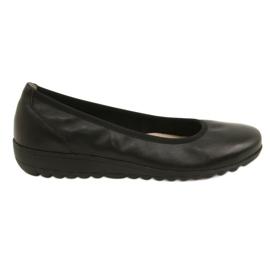 Musta Mukava nahkaverhoilu Caprice 22150