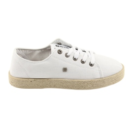 Ballerinas espadrilles naisten kengät valkoinen Big star 274423
