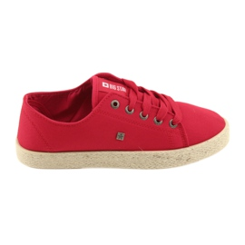Ballerinas espadrilles naisten kengät punainen Big star 274424