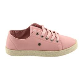 Ballerinas espadrilles naisten kengät vaaleanpunainen Big star 274425 pinkki