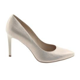 Keltainen Kengät naisten nahkakengät Anis 4527