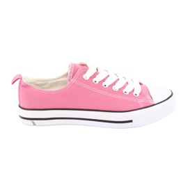 American Club Sneakers sidottu vaaleanpunainen American Naisten kengät pinkki