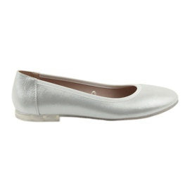 Ballerina kengät naisille hopea Sergio Leone BL607 harmaa