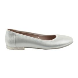 Harmaa Ballerina-kengät naisille hopea Sergio Leone 607