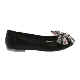 Ballerinan naisten kengät, joissa keula Sergio Leone 605 musta