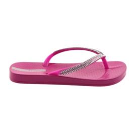 Flip flops hopeaketjut Ipanema 82528 pinkki