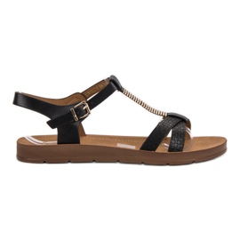 Filippo Klassiset mustat sandaalit