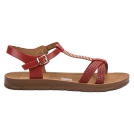 Filippo Klassiset punaiset sandaalit punainen