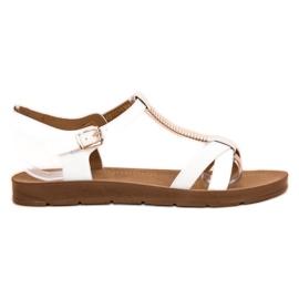 Filippo Klassiset valkoiset sandaalit valkoinen