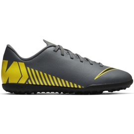 Nike Mercurial Vapor X 12 Club Tf Jr AH7355-070 Jalkapallokengät harmaa