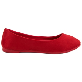 Suede Red Ballerina VICES punainen