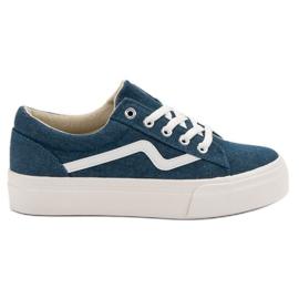 Kylie Muodikkaat farkut-tennarit sininen