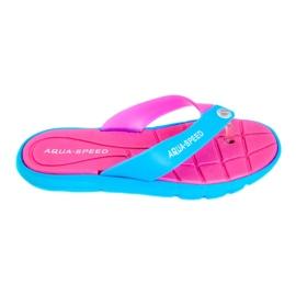 Pinkki Tossut Aqua-Speed Bali vaaleanpunainen-sininen 03 479