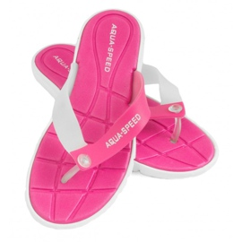 Tossut Aqua-Speed Bali vaaleanpunainen ja valkoinen 05 479