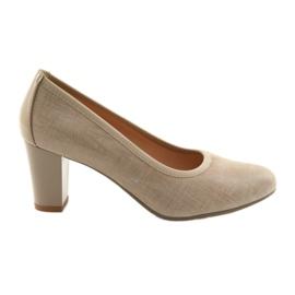 Naisten kengät joustava Arka 5137 beige ruskea