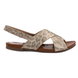 Kylie keltainen Täplikkäät sandaalit