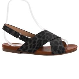 Kylie musta Täplikkäät sandaalit