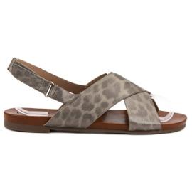 Kylie harmaa Täplikkäät sandaalit