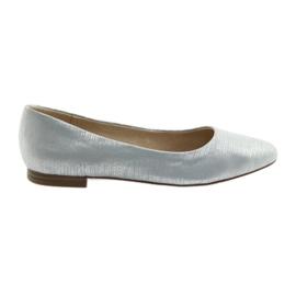 Ballerinas-pumput Caprice 22104 hopea sininen