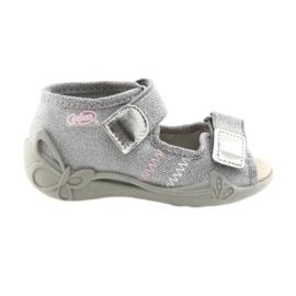 Harmaa Befado lasten kengät 342P002 hopeanhohtoinen