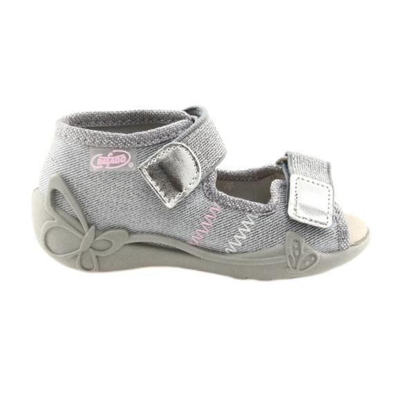 Befado lasten kengät 342P002 hopeanhohtoinen harmaa