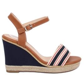 Sandaalit kiilan sininen laivasto 9068 Sininen
