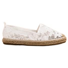 Lucky Shoes Valkoinen pitsi Espadrilles