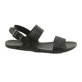 Mukavat mustat sandaalit Filippo 685 brocade