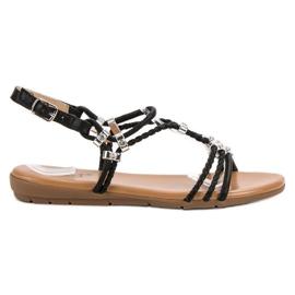 Cm Paris musta Litteät sandaalit