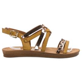 Seastar Muodikkaita Camel-sandaaleja ruskea