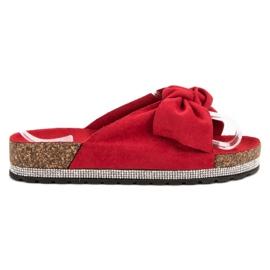 Anesia Paris punainen Suede Flip Flops kiteillä