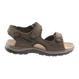 Velcro sandaalit kevyt EVA DK ruskea pohja