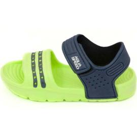 Sandaalit Aqua-Speed Noli vihreä laivasto sininen col .84