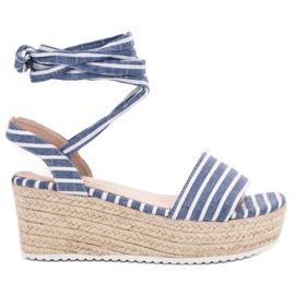 Seastar Sandaalit kiilevöillä sininen