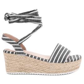 Seastar harmaa Sandaalit kiilevöillä