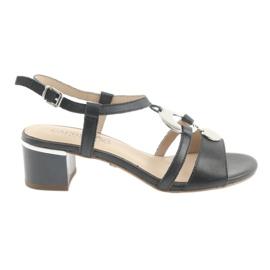 Sandaalit, joissa koristelu Caprice 28211 tummansininen