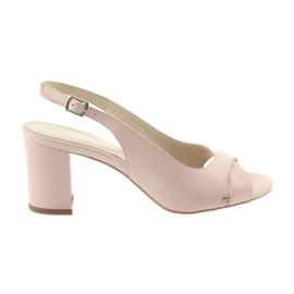 Naisten sandaalit postitse Badura 4728 jauhe vaaleanpunainen pinkki