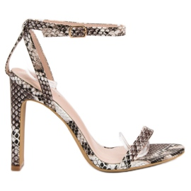 Seastar ruskea Sandaalit Animal Print