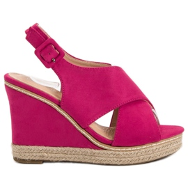 Anesia Paris pinkki Suede Sandals On Wedge