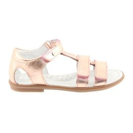 Tytön sandaalit, vaaleanpunainen kulta, Bartek 56016