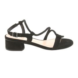 Musta sandaalit korkokengät Edeo 3386