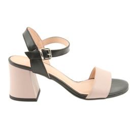 Naisten sandaalit Edeo 3339 jauhe / musta