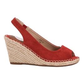 Seastar punainen Weddered sandaalit