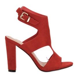 Ideal Shoes punainen Seksikäs korkokengät