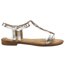 SHELOVET harmaa Silver Sandals
