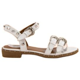 Small Swan valkoinen Valkoiset sandaalit, joissa nastat