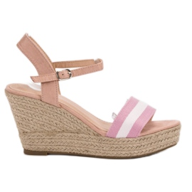Primavera pinkki Rento kiila sandaalit