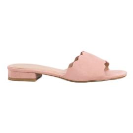 Small Swan pinkki Tossut Flat Heels