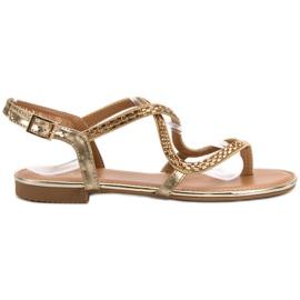 Small Swan Japanilaiset sandaalit keltainen